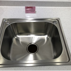 Stainless steel 201/304 single slot kitchen sink top mounted kitchen basin