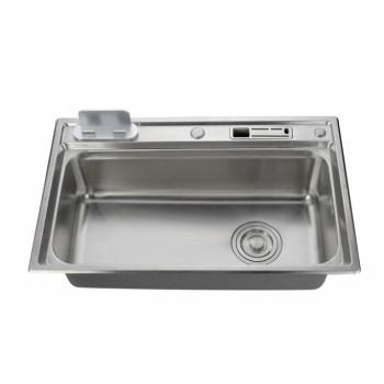 Stainless steel 201/304 single slot kitchen sink top mounted kitchen basin