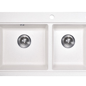 Wholesale price US standard 304 steel black granite sink integrated top-mounted kitchen sink