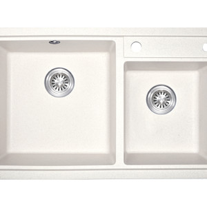 Made in China double bowl wash basin khaki kitchen quartz stone sink