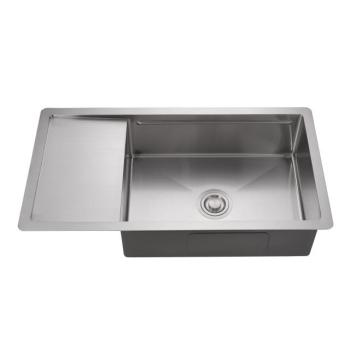 American standard size stainless steel kitchen sink, single bowl kitchen sink and drain