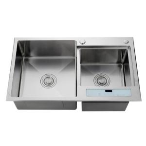 Undermount double bowl kitchen stainless steel sink double sink kitchen with drainboard