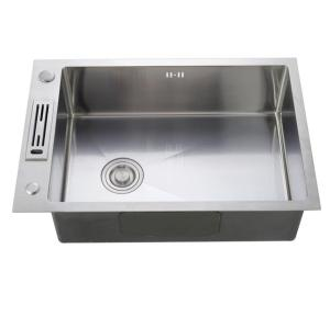 High quality handmade single bowl kitchen universal stainless steel sink