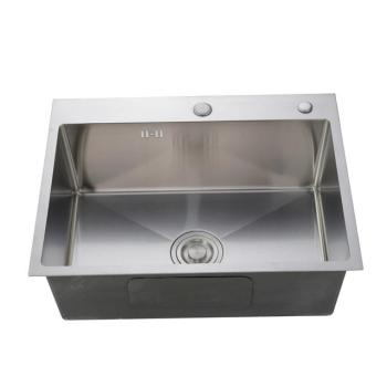 High quality handmade single bowl stainless steel kitchen sink for easy installation