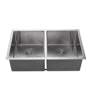 304 stainless steel1.2mm handmade double bowls kitchen sink