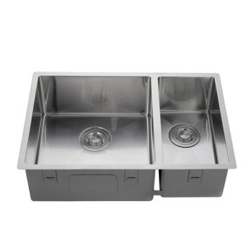 304 stainless steel double bowl rectangular kitchen sink, kitchen supplies supplier