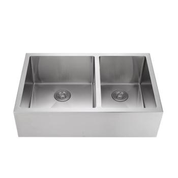 Chinese local warehouse is handmade stainless steel apron front kitchen sink