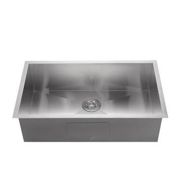 Hotel handmade single bowl stainless steel sink