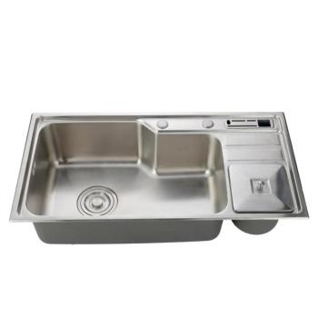 China Handmade Stainless Steel Undermount Double Bowl Kitchen Sink
