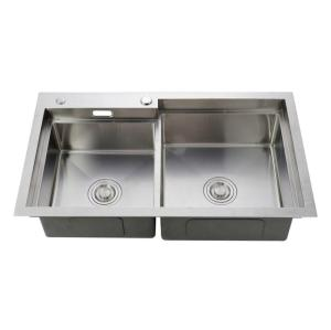 China mainland manufacturer supply large volume double bowl stainless steel sinks