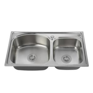 China Sink Supplier Double bowls Stainless Steel Sinks, handmade kitchen sink