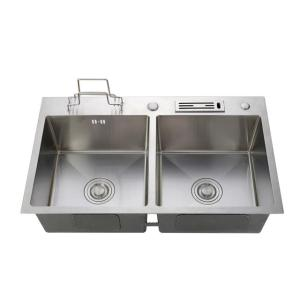Factory 304 stainless steel sink handmade kitchen sink double sink for family