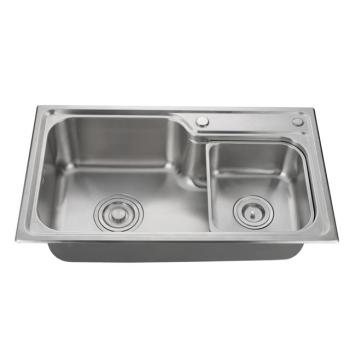 Cupc Approved Handmade Square Corner Undermount Double Kitchen Sink Stainless Steel