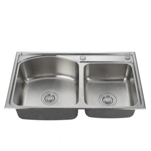 2019 Industrial Single/Double stainless steel kitchen sink with drain board