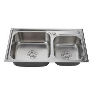 Hot Sale Double Bowls 201/304 Stainless Steel Sink For Kitchen