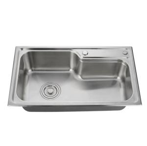 Simple rectangular kitchen sink 304 stainless steel countertop kitchen sink