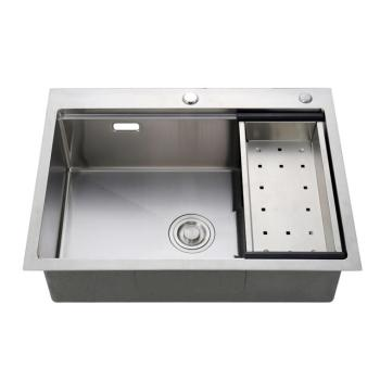 Discount price cheap 304 stainless steel double bowl deep kitchen sink with filter