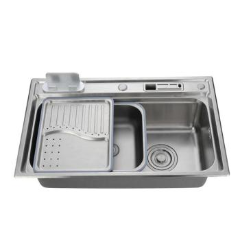 Custom size topmount handmade single slot 304 stainless steel kitchen sink for home