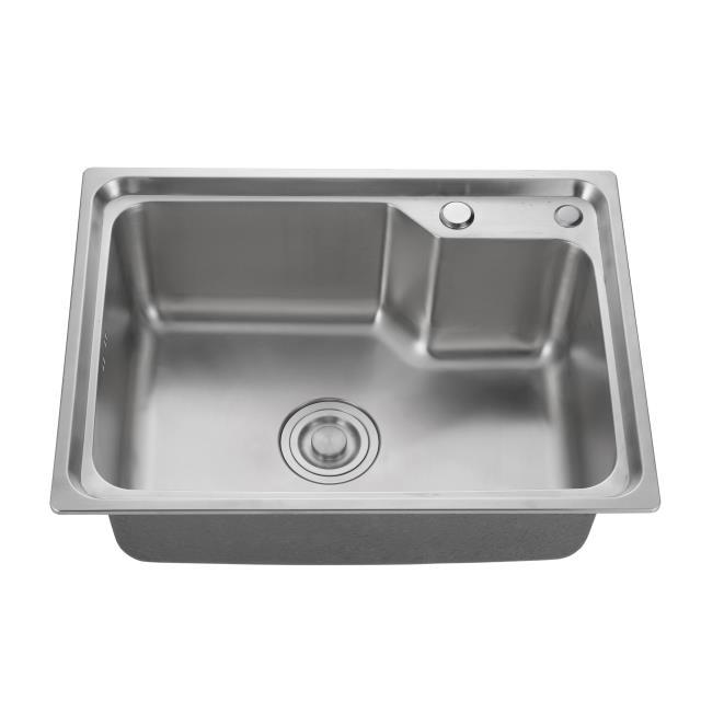 Single basin stainless steel sink