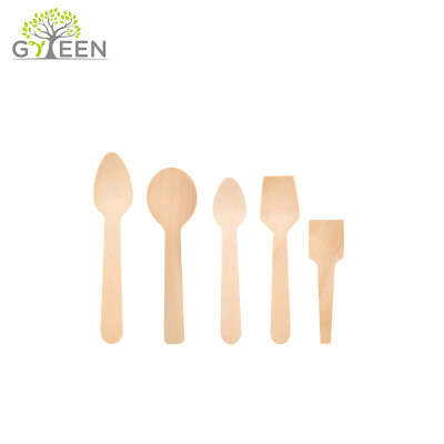 Eco-Friendly Biodegradable Disposable Small Wooden Spoon
