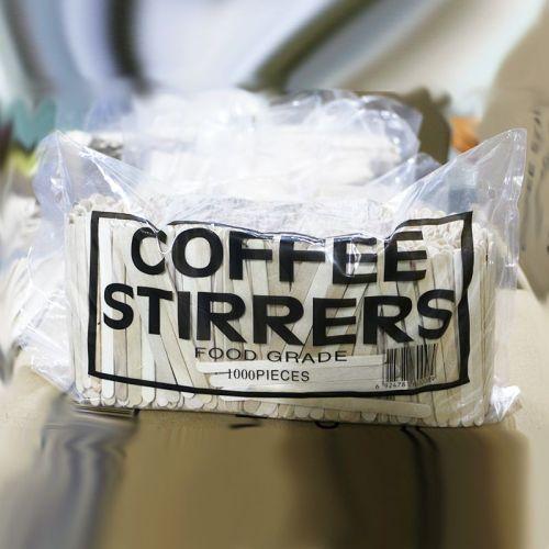 Agitadores de madera ecológicos a granel de café y bebida