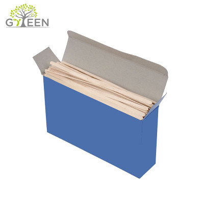 Eco-Friendly Disposable Wooden Coffee Stirrers with Box For Retail Packaging