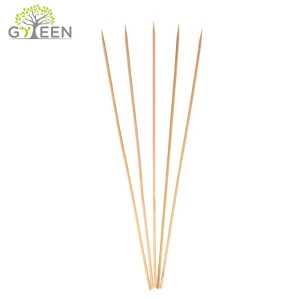 Espeto de bambu redondo Eco-Friendly / vara do BBQ