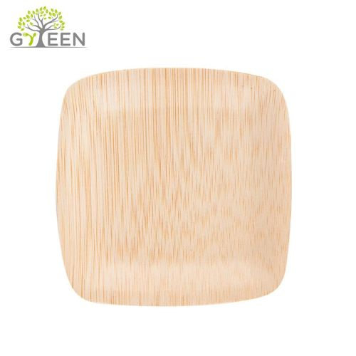 Eco freundliche Wegwerfquadrat-Bambusplatte