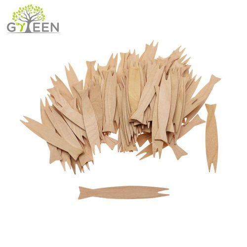 Horquilla de madera desechable biodegradable ecológica
