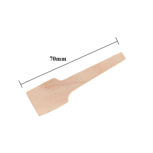 Birch Material Biodegradable Disposable Small Wooden Spoon For Ice Cream