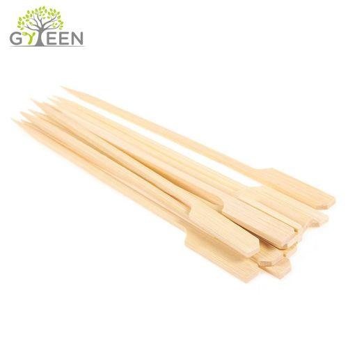 Pincho de bambú de Kebab plano natural / pinchos de bambú del arma