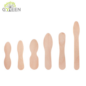 Compostable Biodegradable Disposable Wooden Ice Cream Spoon