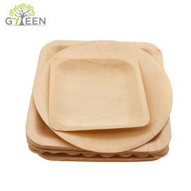 Экологичная одноразовая деревянная тарелка