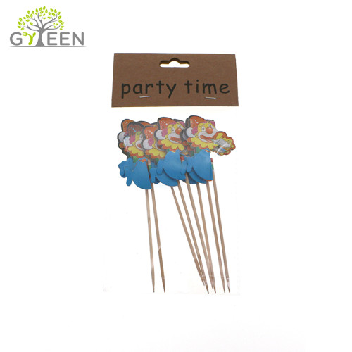Umweltfreundliche Einweg Holz dekorative Spieß / Cocktail-Spieß - Farbe