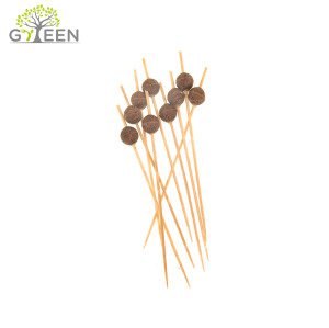 Eco-Friendly Disposable Wooden Decorative Skewer/Cocktail Skewer - Color