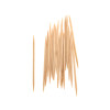 Double Pointed Round Disposable Wooden Toothpick for Teeth Cleaning