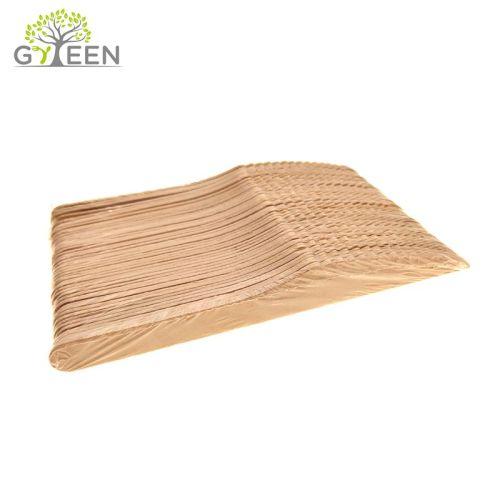 Umweltfreundliches Einweg-Holzbesteck mit POF Skrinked Bag