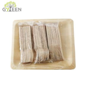 100% Natural Compostable Disposable Wooden Cutlery and Plates