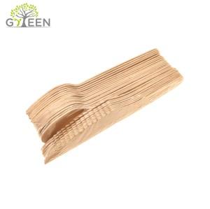 PE-Folie Schrumpffolien-Einwegbesteck aus Holz, 24 Stück, sortiert