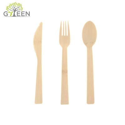 170mm Disposable Bamboo Cutlery Set for  take-out