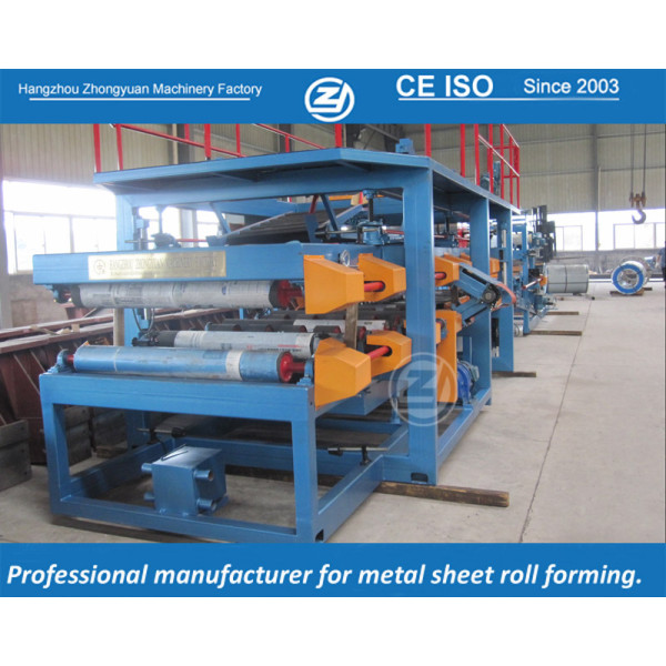 Continuous EPS sandwich panel line with ISO quality system and CE certificate   ZHONGYUAN