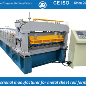 Rollo de teja estándar europeo estándar que forma la fábrica de máquinas con sistema de calidad ISO | ZHANGYUAN