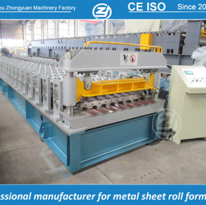 Rollo trapezoidal personalizado estándar europeo de la hoja que forma la máquina manuafaturer con el sistema de calidad del ISO | ZHANGYUAN