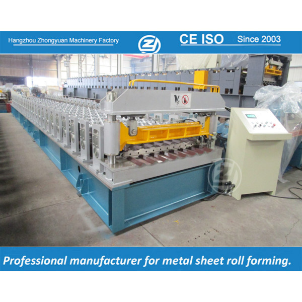 European standard customized trapezoidal sheet roll forming machine manuafaturer with ISO quality system | ZHONGYUAN