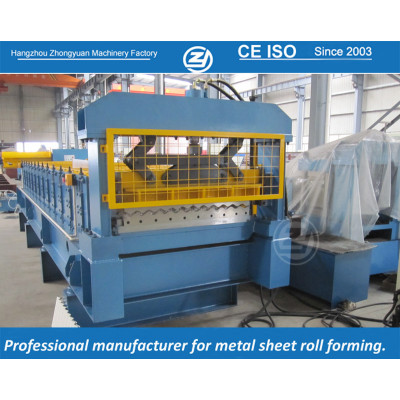 European standard customized corrugation sheet roll forming machine manufacturer with ISO quality system,supply life time service | ZHONGYUAN