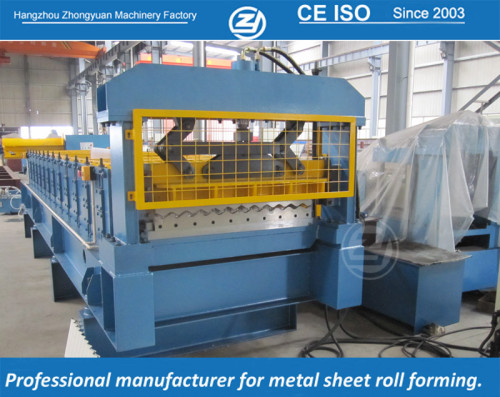 European standard customized corrugation sheet roll forming machine manufacturer with ISO quality system,supply life time service   ZHONGYUAN