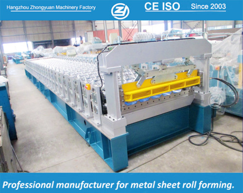 European standard customized 1450 Coil Width Cladding Roll Forming Machine manuafaturer with ISO quality system | ZHONGYUAN