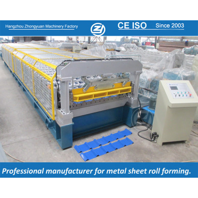European standard customized India 1220&1450  Coil Width Roll Forming Machine manuafaturer with ISO quality system | ZHONGYUAN