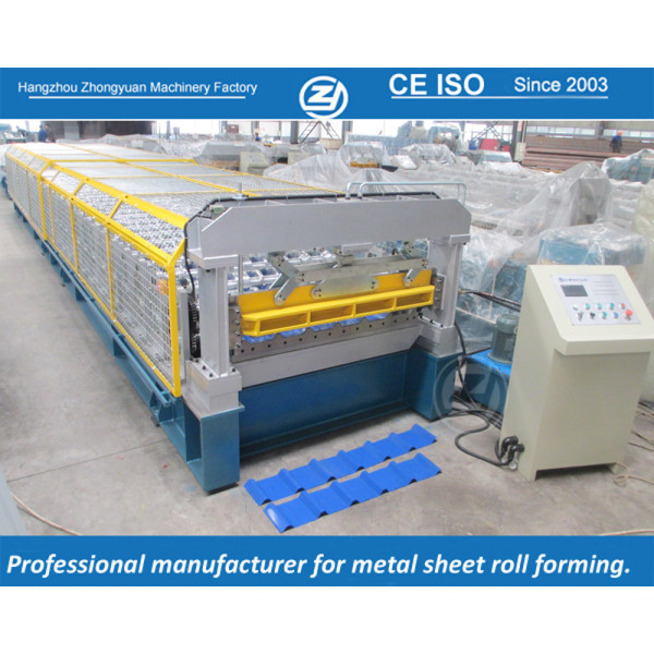 European standard customized India 1220&1450  Coil Width Roll Forming Machine manuafaturer with ISO quality system   ZHONGYUAN