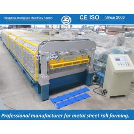 Padrão europeu personalizado alumínio longo rolo de rolos formando máquina manuafaturer com sistema de qualidade ISO | ZHANGYUAN